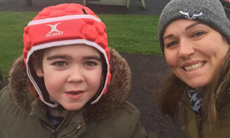 Nine-year-old Alfie Dingley with his mother, Hannah Deacon. Alfie's medication has helped him to become seizure-free after years of 150 seizures a week.