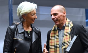 Christine Lagarde, then IMF director, and Yanis Varoufakis, then Greece's finance minister, in 2015.