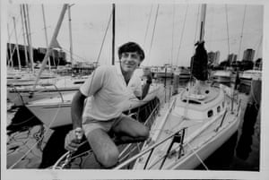 Jon Sanders after the 1984 Sydney to Hobart yacht race