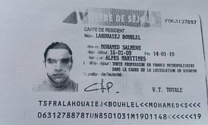 Residence permit of Mohamed Lahouaiej-Bouhlel, the truck driver responsible for the Nice attack.