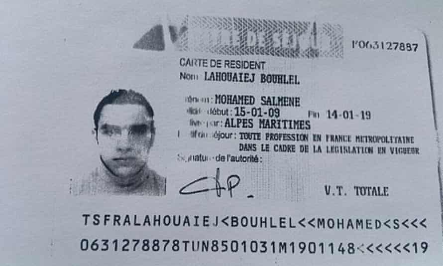Mohamed Lahouaiej-Bouhlel's residency permit.