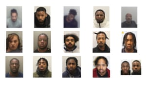 The 16 jailed for county lines offences.