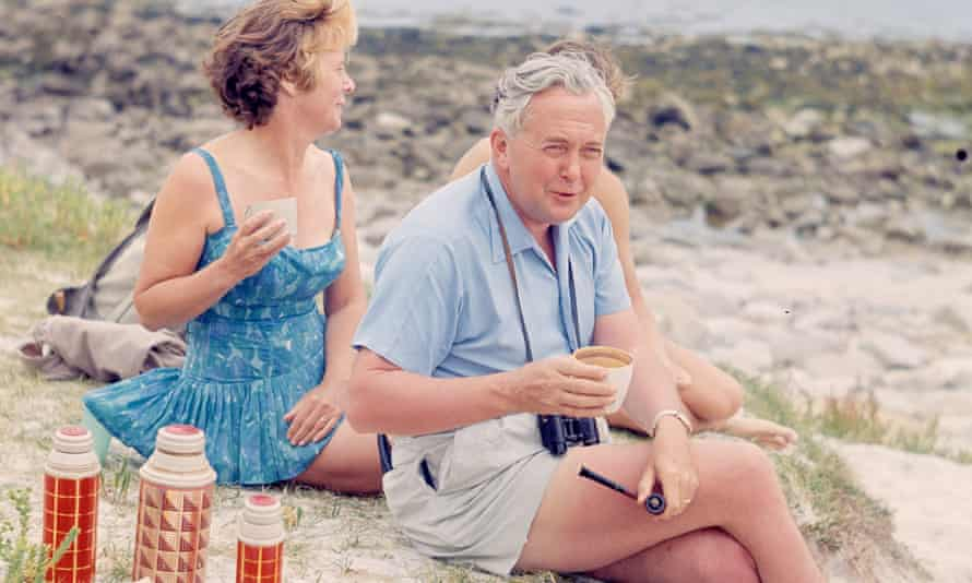 Mary and Harold Wilson on holiday in the Isles of Scilly in 1965.