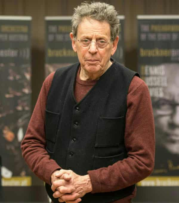 Philip Glass in Linz, Austria earlier this month for rehearsals of his Symphony No 11.