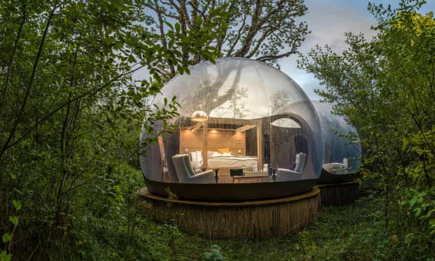 Bubble dome at Finn Lough