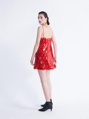 Model wears dress, £69.99, zara.com. Boots, £149, kurtgeiger.com.