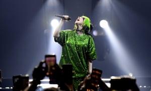 Billie Eilish kicks off her world tour in Miami, US, on 9 March 2020.