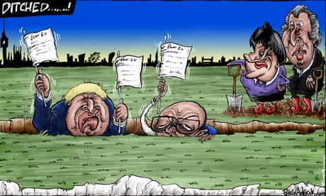 Brian Adcock on Boris Johnson's Brexit pledge – cartoon