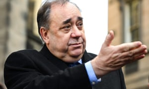 Alex Salmond outside the court of session in Edinburgh on 8 January