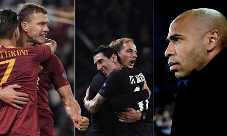 Edin Dzeko, Thomas Tuchel, Ángel Di María and Thierry Henry all face a big week in the Champions League.