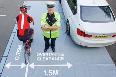 West Midlands police's safe passing mat