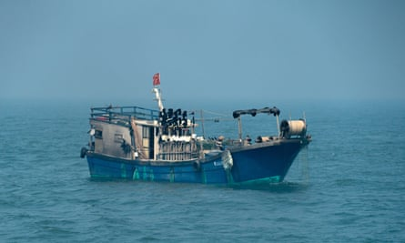 A Chinese-flagged fishing boat