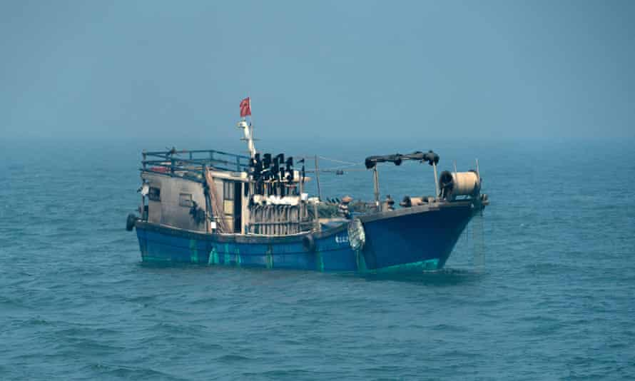 A Chinese-flagged fishing vessel