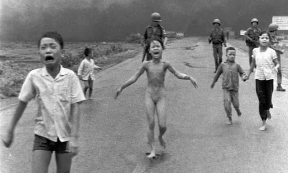 'The photograph of nine-year-old Kim Phuc running away from a napalm attack deepened the unpopularity of the Vietnam war.'