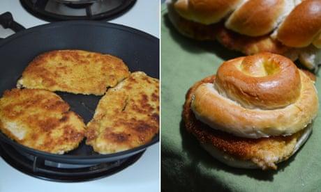 Rachel Roddy's recipe for fried chicken sandwiches