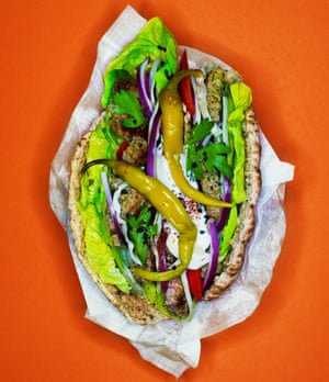 'Fire-roasted meat and bright green lettuce': a tasty example of the kebab maker's art.