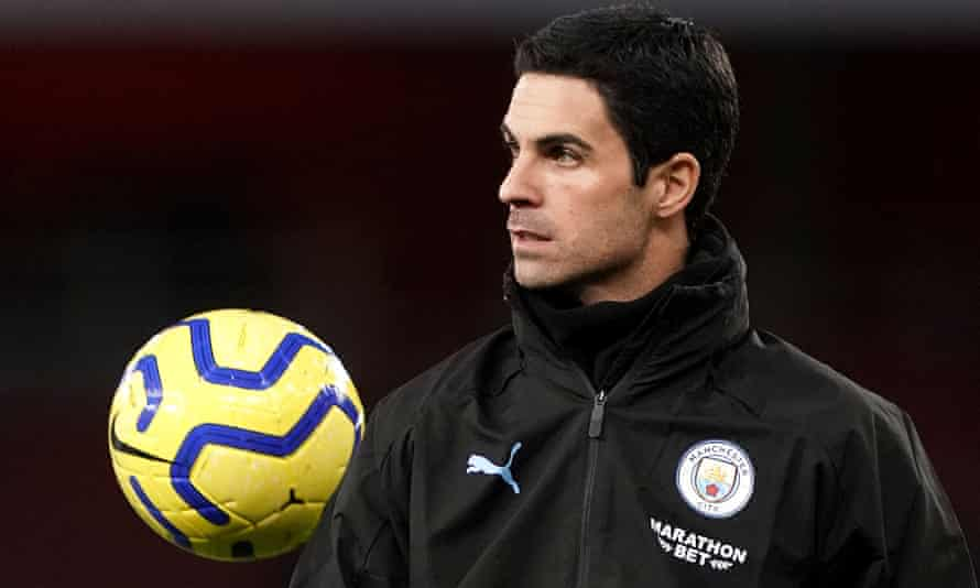 Mikel Arteta, pictured here at the Emirates Stadium on Sunday, played for Arsenal between 2011 and 2016.