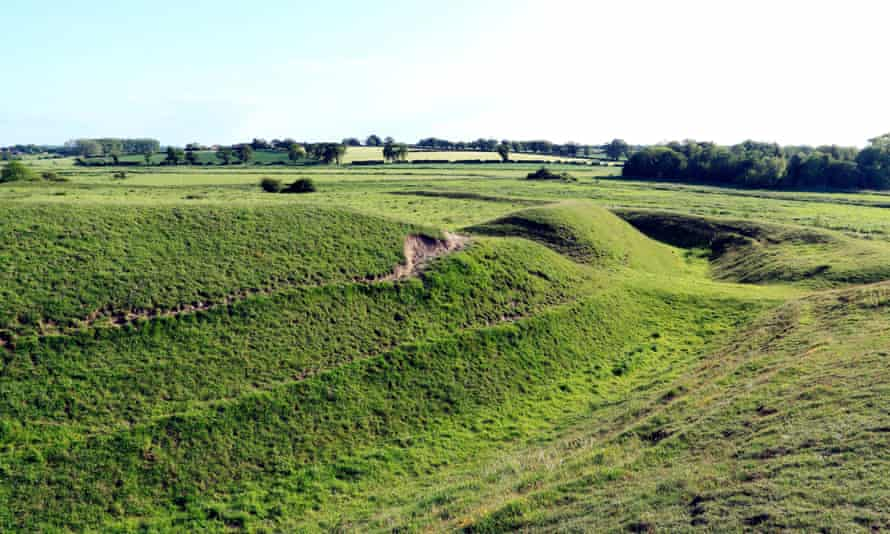 Iron Age Fort, Warham, Norfolk, banks, ditches, earthworks, prehistory, prehistoric England UK forts bank ditch earthwork