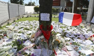 Tributes in Nice on Friday.