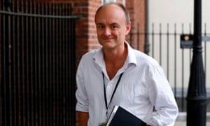 The prime minister's special adviser Dominic Cummings