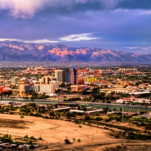 The Tucson skyline is dominated by mountains in every directionExact date unknown.C67K2C The Tucson skyline is dominated by mountains in every direction. Close in to the city are the Santa Catalina Mountains.. Image shot 2009. Exact date unknown.