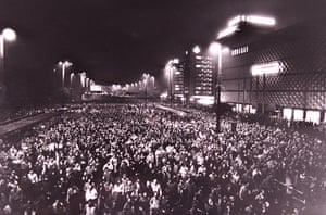 Bravery in Leipzig … about 70,000 people protest against the East German communist regime in October 1989.