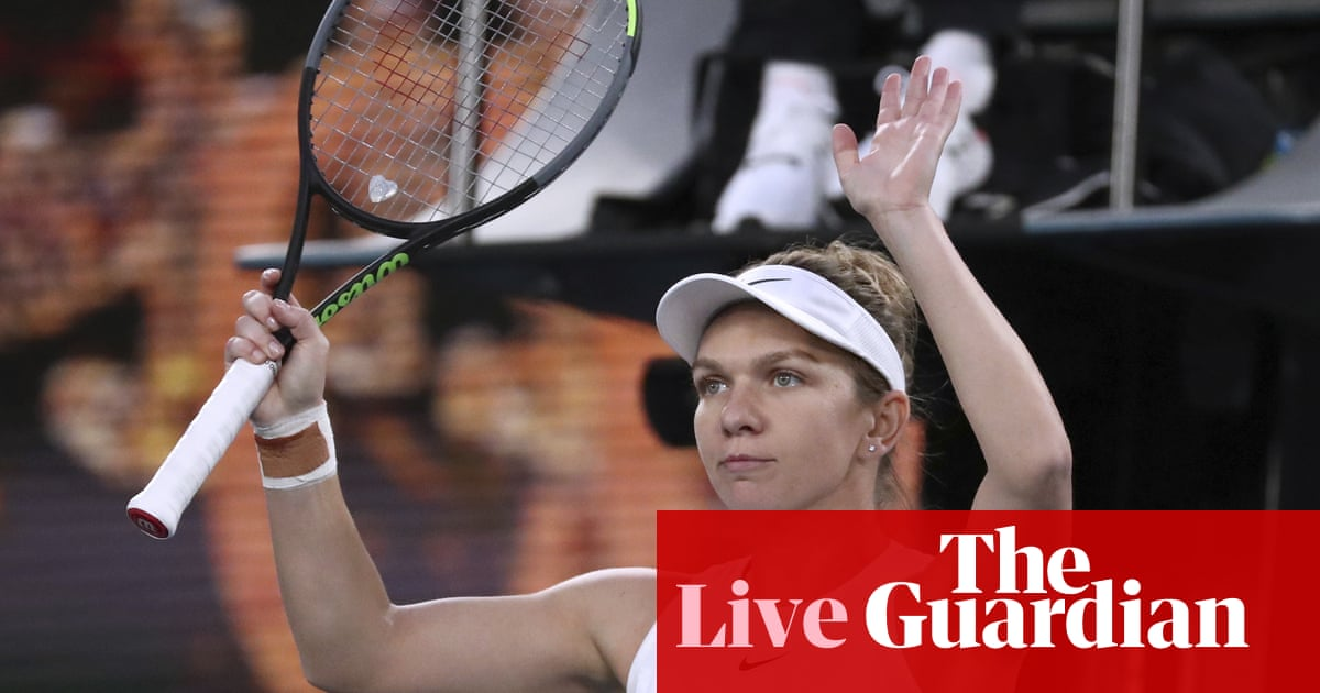 Australian Open: Kyrgios v Simon, Halep overcomes Dart –live!