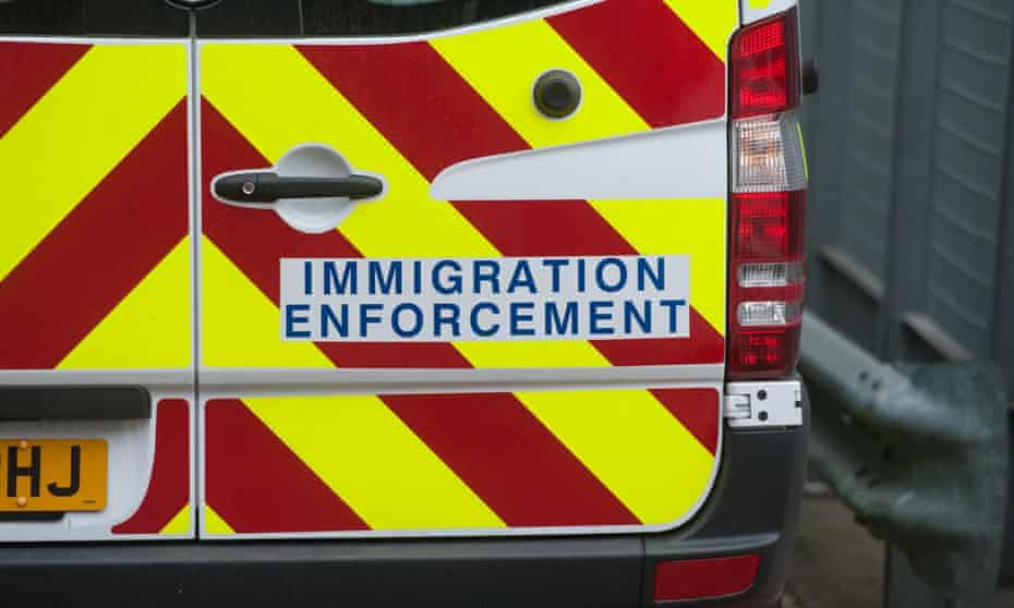 a UK immigration enforcement van