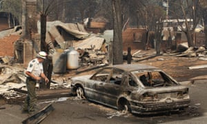 Marysville, 100km northeast of Melbourne, after bushfires destroyed the town in February 2009 during the deadliest wildfires in Australia's history.