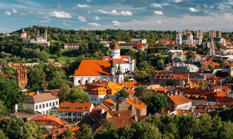 The view from St John's Chuch belltower, Vilnius.