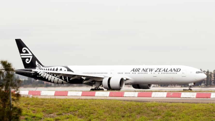 An Air New Zealand Boeing 777 plane