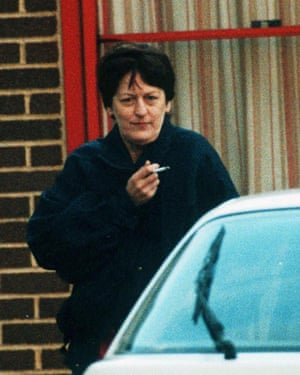 Myra Hindley on a hospital visit from Cookham Wood prison in Kent in 1994.