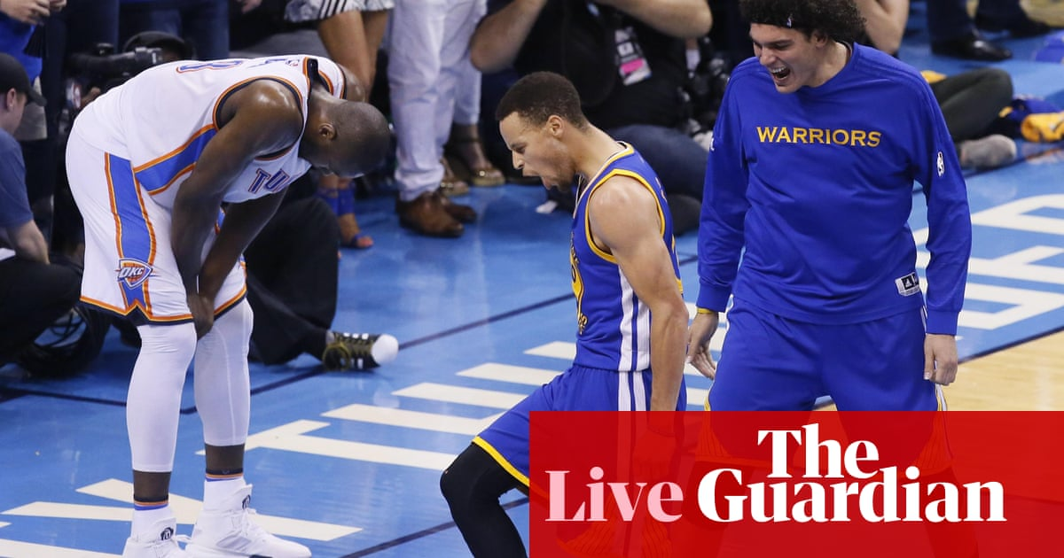 cff8368b83b Golden State Warriors beat Oklahoma City Thunder: NBA playoffs – as it  happened!