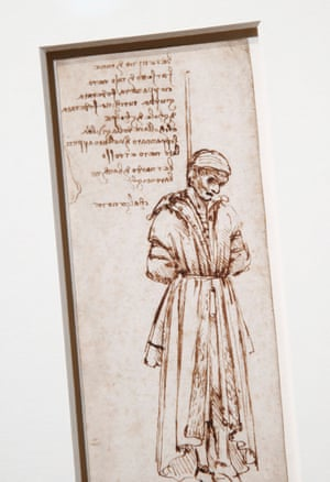 Dark eye pits and decay … Study of The Hanging of Bernardo di Bandini Baroncelli, by Leonardo.