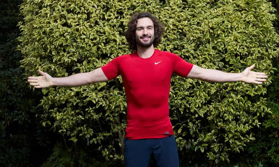 Fitness instructor Joe Wicks photographed in his garden in Surrey