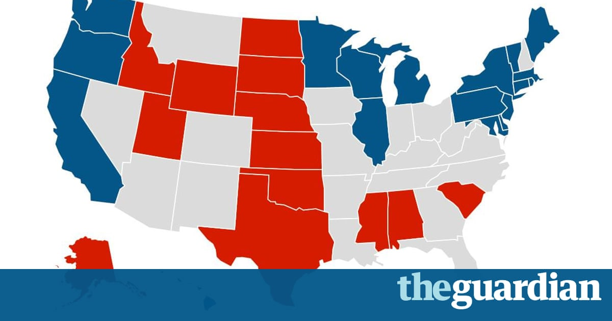 Reality Check Does The Electoral Map Work In Trumps Favor - Us election 2016 map the guardian