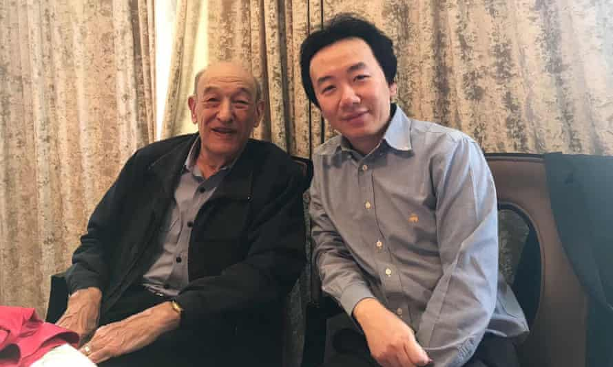 Chairman Rabbit, or Ren Yi (R) with the late Harvard sinologist Ezra Vogel (L)