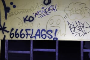 Signs of devil worship can be found on the site including graffiti depicting 666 and upside down crosses. A security guard confirmed that he has ejected Devil worshippers.