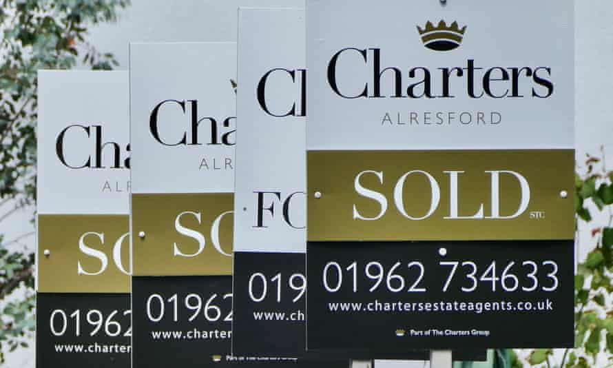 Estate agent sold signs