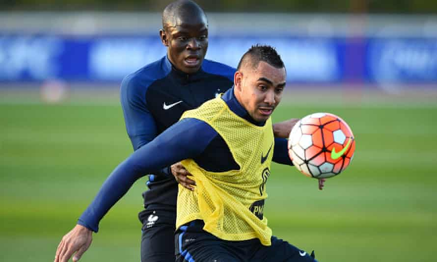 France's Dimitri Payet (right) and N'Golo Kanté