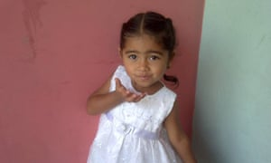 Victoria Martínez who died in August aged three after contracting a bacterial infection at the paediatric hospital in Barquisimeto.