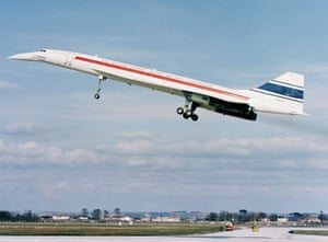 The BAC/SUD Concorde SST prototype on its first flight in Toulouse, France on March 2, 1969