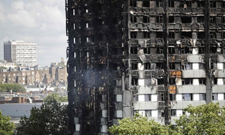 The remains of Grenfell Tower