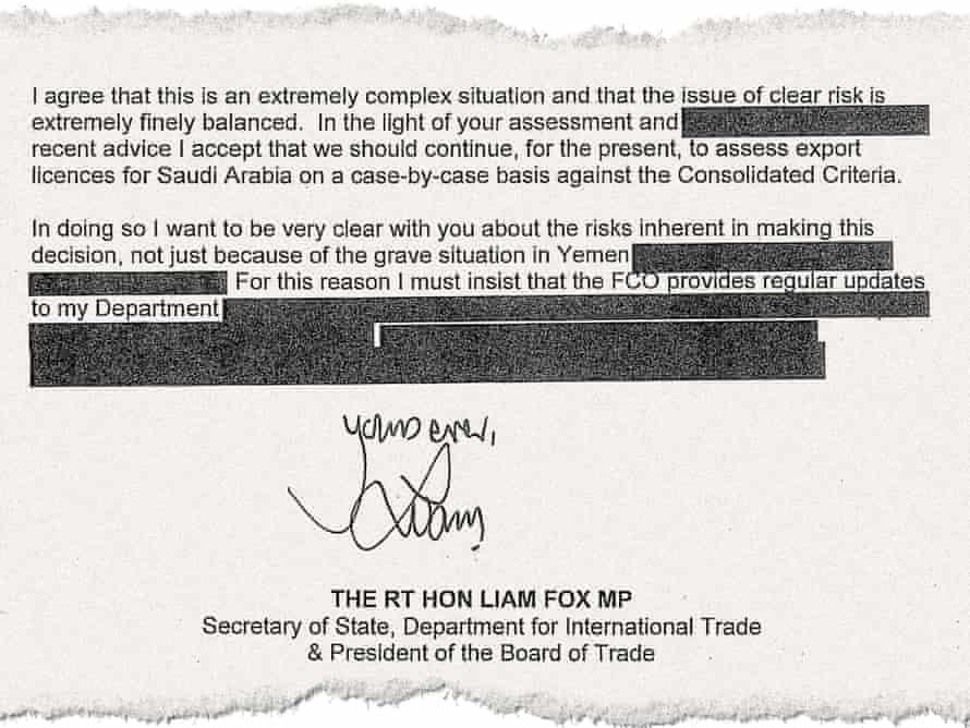 Liam Fox's reply to Johnson.