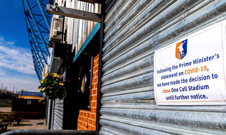 The One Call Stadium, home to Mansfield Town, temporarily closed due to coronavirus restrictions: 'In future, what can be done to maintain football's bonds with devoted fans and communities – and not just its wealthiest customers?'