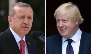 Recep Tayyip Erdoğan and Boris Johnson