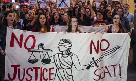 Protestors Demonstrate Against Supreme Court Nominee Brett Kavanaugh In New York