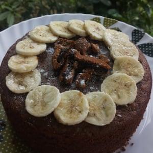 Sudarshana's choco-banana cake