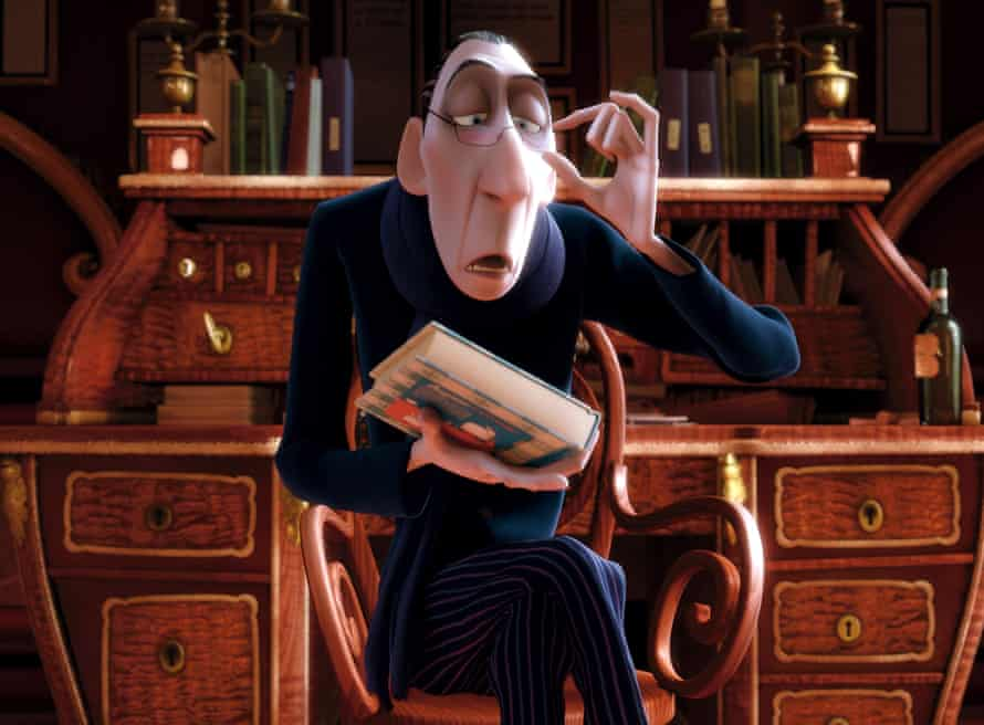 Restaurant critic Anton Ego, voiced by Peter O'Toole, in Ratatouille (2007).
