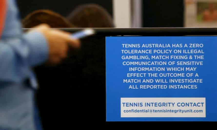 The Tennis Integrity Unit has a presence at the Australian Open.